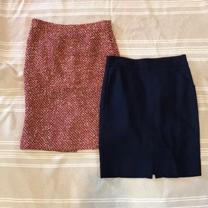 Jcrew Pencil Skirt Lot Size 4 Navy and tweed